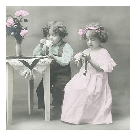 Vintage Χαρτοπετσέτα για Decoupage, Young couple / SG-80035