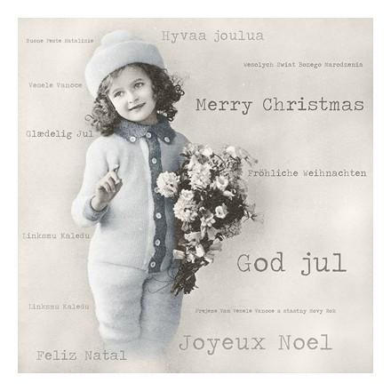 Vintage Χαρτοπετσέτα για Decoupage - Christmas Girl / SG-80039