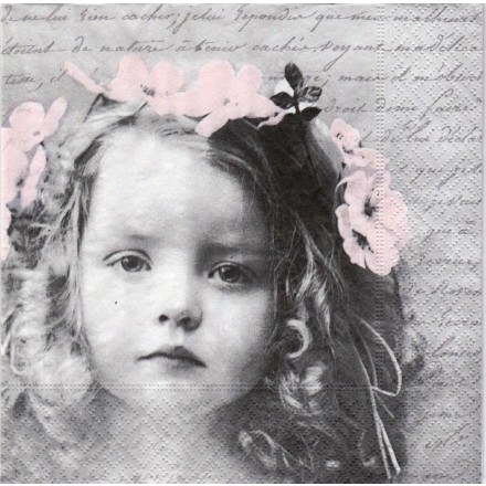 Vintage Χαρτοπετσέτα για Decoupage, Sweet Girl / SG-80054