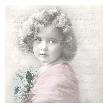 Vintage Χαρτοπετσέτα για Decoupage, Girl Poem / SG-80058