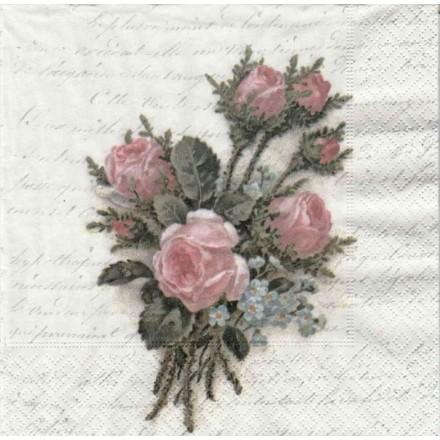 Vintage Χαρτοπετσέτα για Decoupage, Flower Bouquet / SG-80071