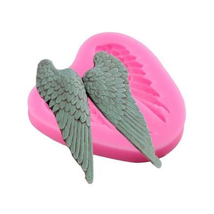 Καλούπι Σιλικόνης 6.6 x 6.7 x 1cm, Angel Wings / SM0390