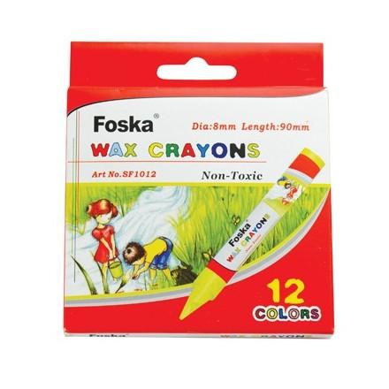 Σετ Jumbo Wax Crayons Foska, 12 χρωμάτων