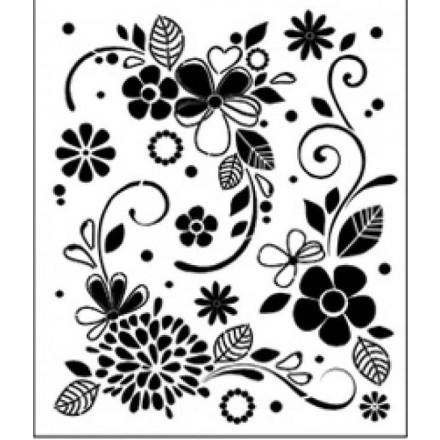 Στένσιλ (Stencil) Tommy Art 33x40cm, Pop Flowers / STE026