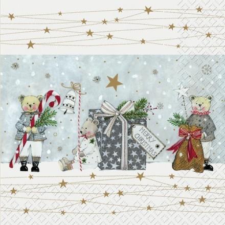 Χριστουγεννιάτικη Χαρτοπετσέτα για Decoupage, Theodor grau / 2572-6141-65