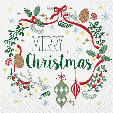 Χριστουγεννιάτικη Χαρτοπετσέτα για Decoupage, Bijou / 2572-6608-47