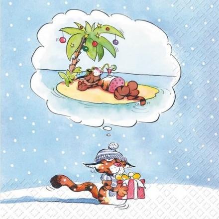 Χριστουγεννιάτικη Χαρτοπετσέτα για Decoupage, Edgar / 2572-7093-41