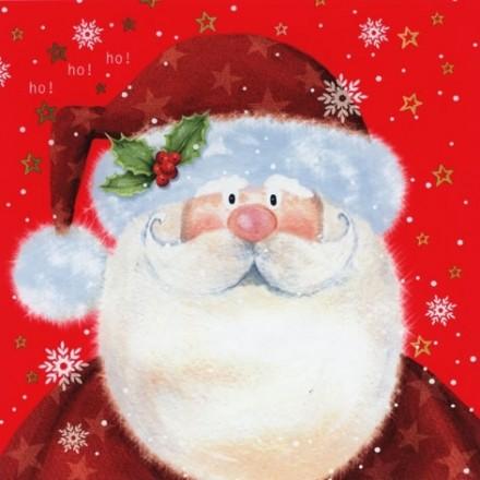 Χριστουγιεννιάτικη Χαρτοπετσέτα για Decoupage, Saint Nick red / 303541