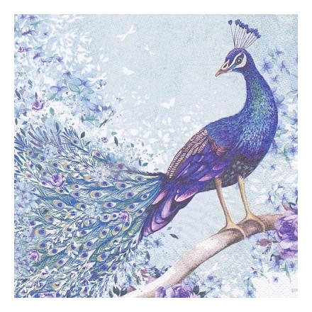 Χαρτοπετσέτα για Decoupage, Peacock sitting on Branch / 361326