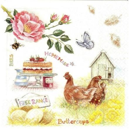 Χαρτοπετσέτα για Decoupage, Homemade Farm Food / 363435