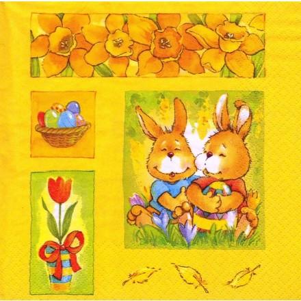 Χαρτοπετσέτα για Decoupage, Rabbit Couple / 380061
