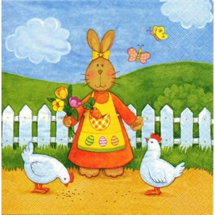 Χαρτοπετσέτα για Decoupage, Rabbit Girl / 380077