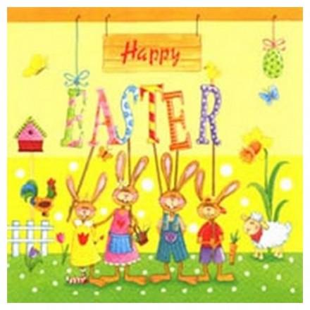 Χαρτοπετσέτα για Decoupage, Happy Easter Gang / 380152