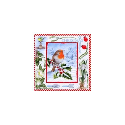 Χριστουγιεννιάτικη Χαρτοπετσέτα για Decoupage, Christmas Garden / 310716
