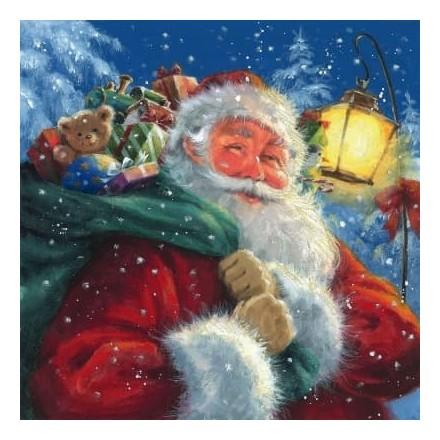 Χριστουγιεννιάτικη Χαρτοπετσέτα για Decoupage, Santa with his Presents / 303517