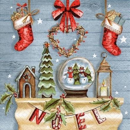 Χριστουγιεννιάτικη Χαρτοπετσέτα για Decoupage, Rustique Noel / 303752