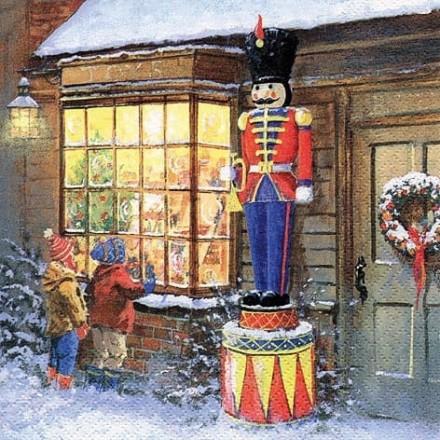 Χριστουγιεννιάτικη Χαρτοπετσέτα για Decoupage, Toyshop & Nutcracker / 310669
