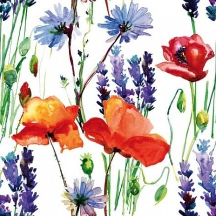Χαρτοπετσέτα για Decoupage, Wild Summer Flowers / 344594