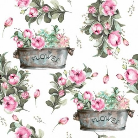 Χαρτοπετσέτα για Decoupage, Peony Flower Boxes / 361333