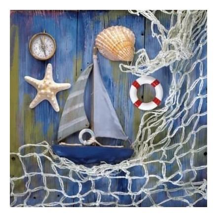 Χαρτοπετσέτα για Decoupage, Coastal Memories / 370563