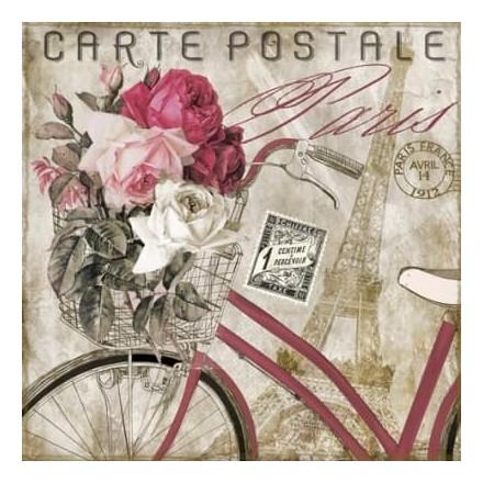 Χαρτοπετσέτα για Decoupage, Carte Postale Paris / 373431