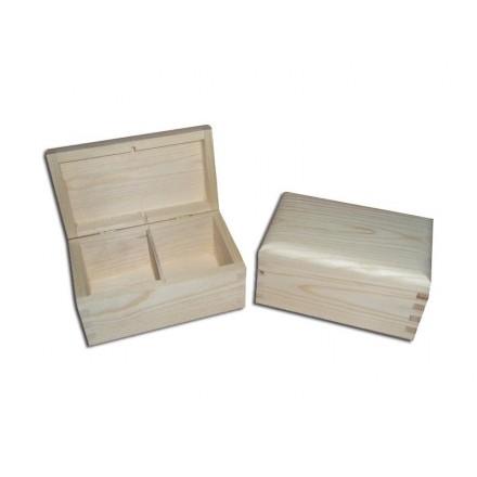 Ξύλινο Κουτί με 2 θήκες, 15*9,5*8cm