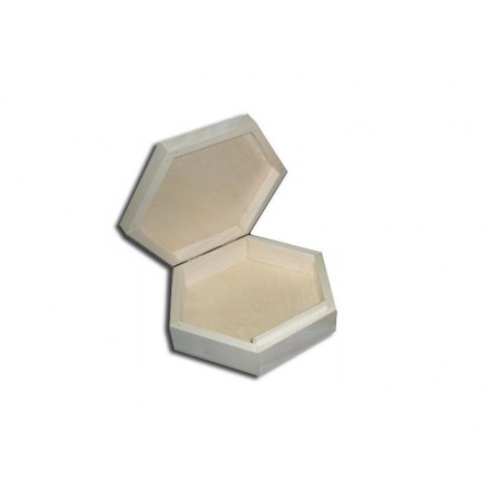 Ξύλινο Πολυγωνικό κουτί, 19*16,5*5cm
