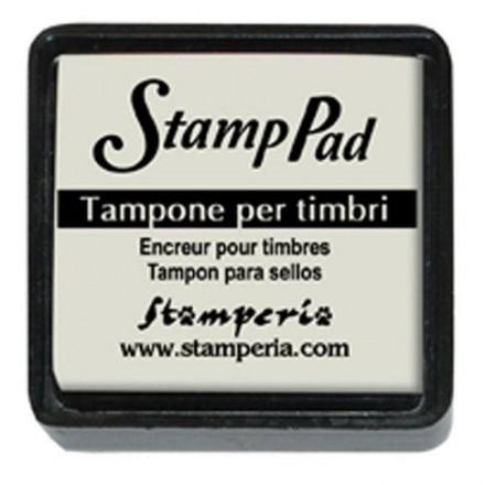 Ταμπόν (Μελάνι) για σφραγίδες Stamperia 24x24mm, Ivory / WKP10P
