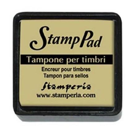 Ταμπόν (Μελάνι) για σφραγίδες Stamperia 24x24mm, Dark ivory / WKP22P