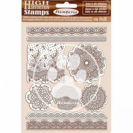 Σφραγίδα HD 14x18cm Stamperia, Passion lace