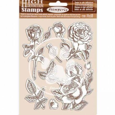 Σφραγίδα HD 14x18cm Stamperia, Passion Rose