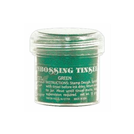 Σκόνη Embossing Tinsels Green 23gr