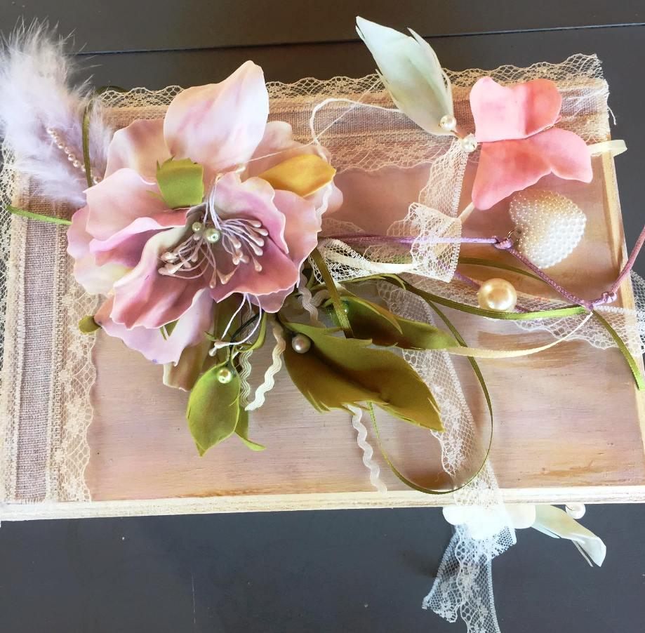 Σεμινάριο στις Μορφές, Ξύλινο Κουτί με διακόσμηση από Foamiran με τη Σοφία Καραμολέγκου