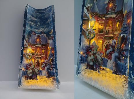 5μμ - 8μμ, Χριστουγεννιάτικο κεραμίδι με τρισδιάστατα στοιχεία